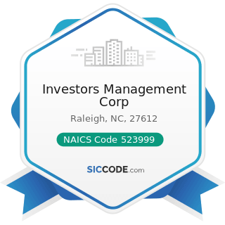 Investors Management Corp - NAICS Code 523999 - Miscellaneous Financial Investment Activities