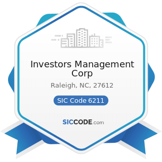 Investors Management Corp - SIC Code 6211 - Security Brokers, Dealers, and Flotation Companies