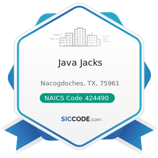 Java Jacks - NAICS Code 424490 - Other Grocery and Related Products Merchant Wholesalers