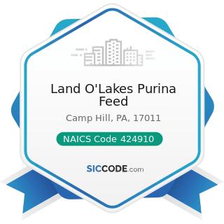 Land O'Lakes Purina Feed - NAICS Code 424910 - Farm Supplies Merchant Wholesalers