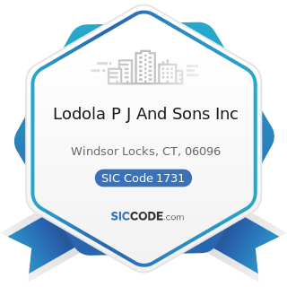 Lodola P J And Sons Inc - SIC Code 1731 - Electrical Work