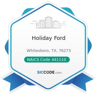 Holiday Ford - NAICS Code 441110 - New Car Dealers
