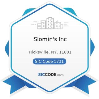 Slomin's Inc - SIC Code 1731 - Electrical Work