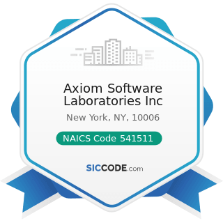 Axiom Software Laboratories Inc - NAICS Code 541511 - Custom Computer Programming Services