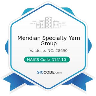 Meridian Specialty Yarn Group - NAICS Code 313110 - Fiber, Yarn, and Thread Mills