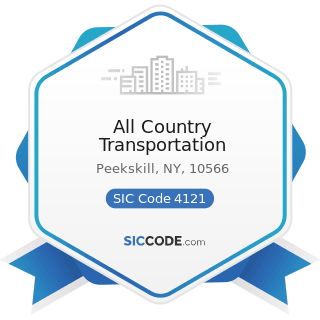 All Country Transportation - SIC Code 4121 - Taxicabs