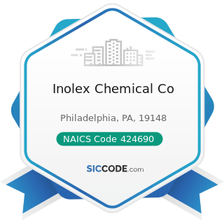 Inolex Chemical Co - NAICS Code 424690 - Other Chemical and Allied Products Merchant Wholesalers