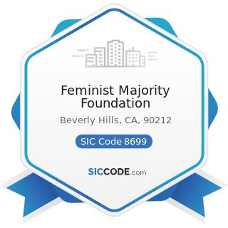 Feminist Majority Foundation - SIC Code 8699 - Membership Organizations, Not Elsewhere Classified