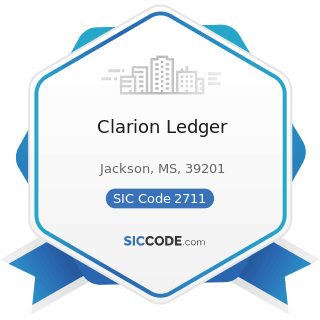 Clarion Ledger - SIC Code 2711 - Newspapers: Publishing, or Publishing and Printing