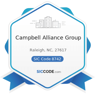 Campbell Alliance Group - SIC Code 8742 - Management Consulting Services