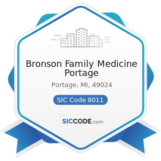 Bronson Family Medicine Portage - SIC Code 8011 - Offices and Clinics of Doctors of Medicine