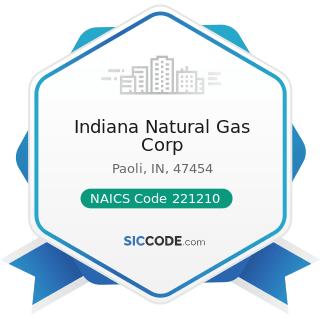 Indiana Natural Gas Corp - NAICS Code 221210 - Natural Gas Distribution