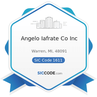 Angelo Iafrate Co Inc - SIC Code 1611 - Highway and Street Construction, except Elevated Highways