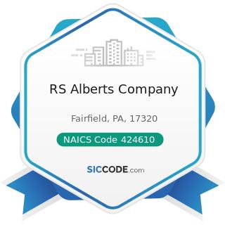 RS Alberts Company - NAICS Code 424610 - Plastics Materials and Basic Forms and Shapes Merchant...