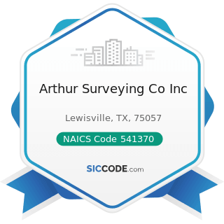 Arthur Surveying Co Inc - NAICS Code 541370 - Surveying and Mapping (except Geophysical) Services