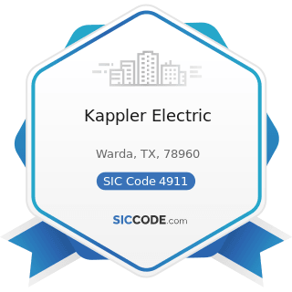 Kappler Electric - SIC Code 4911 - Electric Services