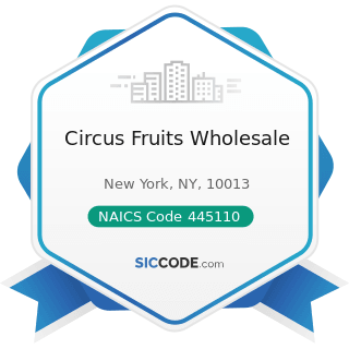 Circus Fruits Wholesale - NAICS Code 445110 - Supermarkets and Other Grocery (except...