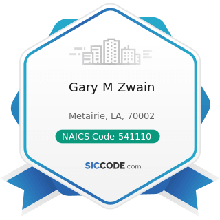Gary M Zwain - NAICS Code 541110 - Offices of Lawyers