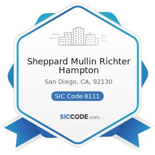 Sheppard Mullin Richter Hampton - SIC Code 8111 - Legal Services
