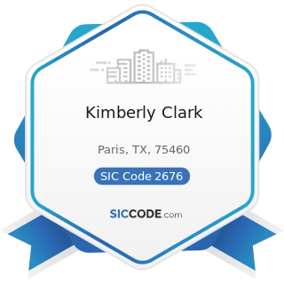 Kimberly Clark - SIC Code 2676 - Sanitary Paper Products