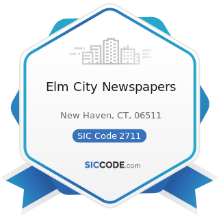 Elm City Newspapers - SIC Code 2711 - Newspapers: Publishing, or Publishing and Printing