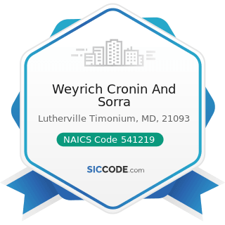 Weyrich Cronin And Sorra - NAICS Code 541219 - Other Accounting Services