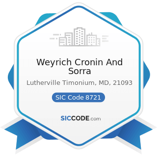Weyrich Cronin And Sorra - SIC Code 8721 - Accounting, Auditing, and Bookkeeping Services