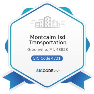 Montcalm Isd Transportation - SIC Code 4731 - Arrangement of Transportation of Freight and Cargo
